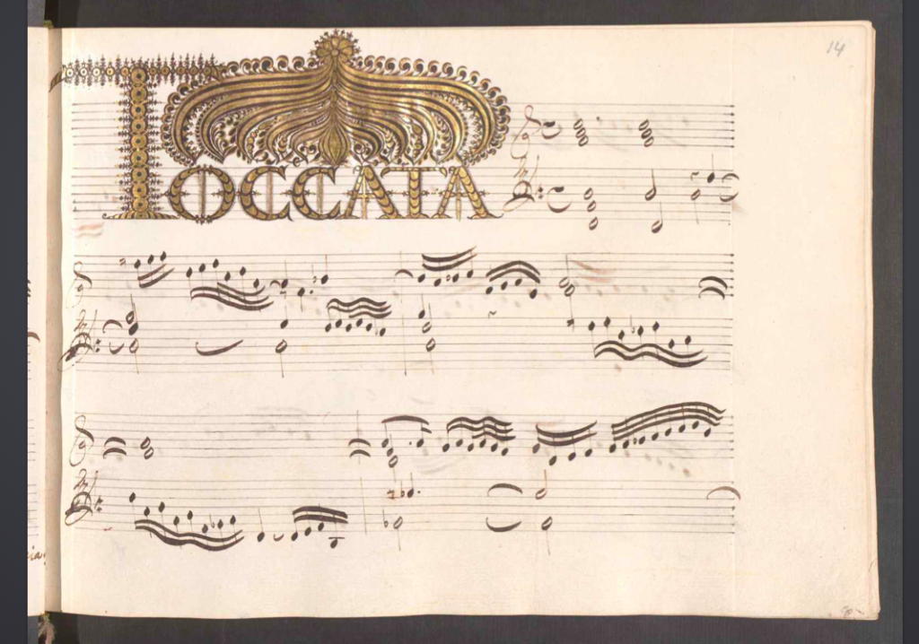froberger fac simile toccata X